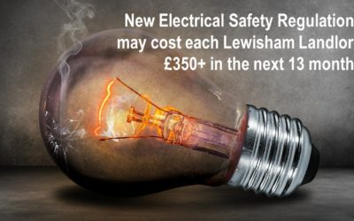 New Electrical Safety Regulations could cost each Lewisham Landlord £350+ in the next 13 months